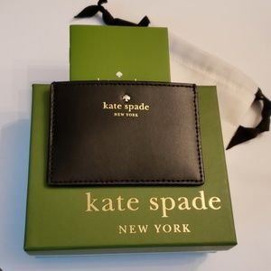Kate Spade Nwt Blk Leather Cc WAllet